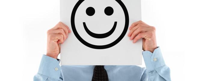happy smiley face man